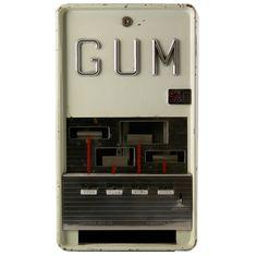 GUM  U.S.  circa 1945-50  Boxed gum vending machine, made by the Superior Manufacturing Company.