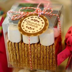 DIY Idea - Fill with graham crackers, marshmallows and chocolate for a make your own S'more kit!  Perfect for party favors or teacher appreciation gifts!
