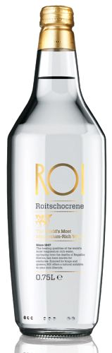 ROI Bottled Water. Simple elegant bottle for our #water loving #packaging peeps PD