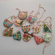 Embroidered necklaces by Lana Pelana
