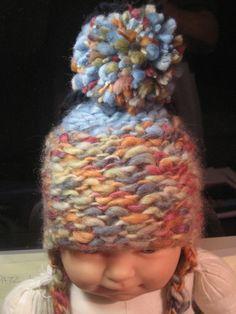 Newborn's beanie - big wool