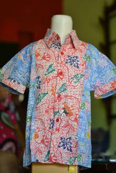Kemeja Batik Anak dengan motif Batik Pekalongan, produk berkualitas hanya di http://www.rumahbatikpekalongan.com