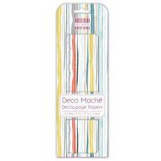 3 Sheets of First Edition Deco Mache - Sandy Stripes Africa, Stripes, Deco, Wallpaper, Deko, Decorating, Dekoration, Wallpapers, Ornament