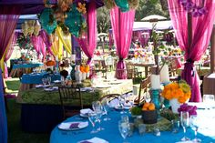 High/Low centerpieces + Lime