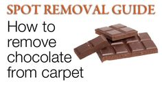 Chocolate Stain Removal Natural