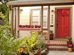 Adding pretty pizzazz to your home's front entrance is an easy, low-cost way to up your home's curb appeal.