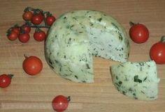 Kapros-petrezselymes házi sajt Gourmet Gifts, Mozzarella, Recipies, Dairy, Potatoes, Cheese, Vegetables, Breakfast, Food