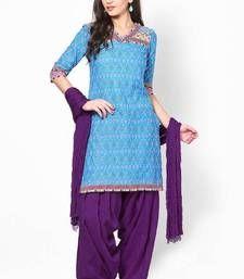 Buy Purple Solid Patiala Salwar With Dupatta - PAT11 patiala-salwar online