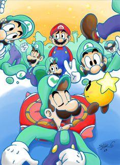 Trapped in a dream- Mario and Luigi Dream team Bro by geckoproject.deviantart.com on @deviantART