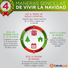 Catholic-Link's Library - Infographic: 4 simple ways to live up Christmas Play Christmas Songs, 2017 Christmas Gifts, Christmas Time, Christmas Ideas, Catholic Kids, Catholic Prayers, Catholic Websites, Quiz Design, Spanish Christmas