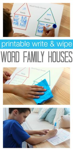 Such a fun idea for word families. Print it out and laminate to re-use!
