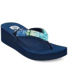 Yellow Box Honora Wedge Flip Flops - Sandals - Shoes - Macy's