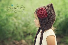 Pixie Hat with Rose> I am making this next!