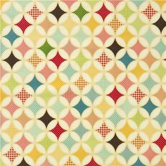 creme Riley Blake laminate ornament fabric from the USA