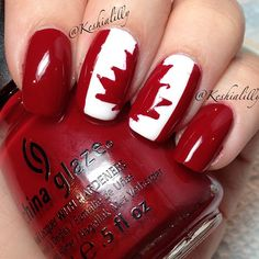 canada by  keshialilly  #nail #nails #nailart