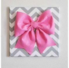 Chevron with bow wall decal