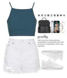 """""""The Way"""" by sarueche ❤ liked on Polyvore featuring Topshop and adidas Originals"""