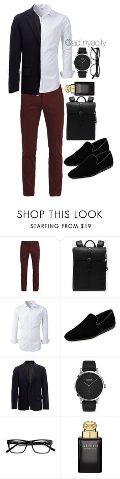 """Gown & Sexy"" by adnyacity ❤ liked on Polyvore featuring Paul Smith, Ted Baker, Salvatore Ferragamo, Joseph, HUGO, Gucci, men's fashion and menswear"