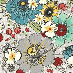 Chamberry Hill in Light Grey  387  -  by Adornit Fabrics  - By the Yard