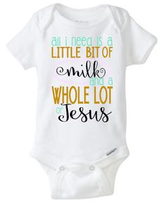 All I Need is a Little Big of Milk and a Whole Lot of coffee Pearls Witty Baby Girl Boy Toddler Onesie Tshirt Country by JustSouthernDzignz on Etsy (null)