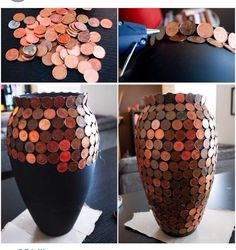 Great idea for a spare vase n pennies laying around