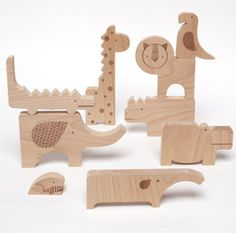 Petit Collage's Safari Animal Wooden Jumble Doubles as a Puzzle & a Playset safari-jumble-puzzle-petit-collage – Inhabitots Wooden Puzzles, Wooden Blocks, Jumble Puzzle, Animal Puzzle, Wooden Animals, Safari Animals, Cut Animals, Dot And Bo, Wood Toys