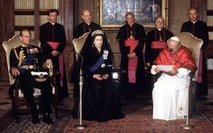October 1980: The Queen and Prince Philip with Pope John Paul II at the Vatican