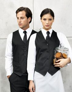 Mens Black Premier Smart Hotel Hospitality Waiter Bar Restaurant Waistcoat PR620