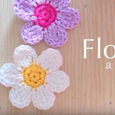 CTejidas [Crochet y Dos Agujas]: Tutorial #99: Flores a Crochet - Vídeo Paso a Paso