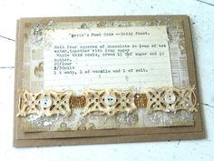 Vintage Heirloom Recipe Greeting Card