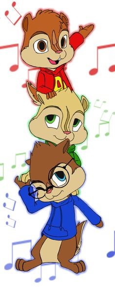 Alvin and the Chipmunks by ~glooptastic on deviantART Cartoon Drawings, Easy Drawings, Alvin And Chipmunks Movie, Disney Illustration, Art Illustrations, The Chipettes, My Prince Charming, Walt Disney Studios, Kids Board