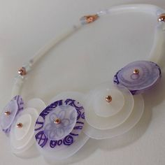 Translucent #polymer_clay #necklace for my mum!