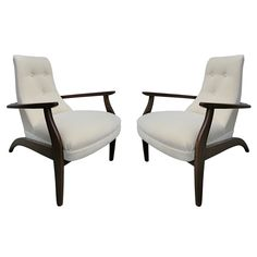 Pair of 60's Armchairs | From a unique collection of antique and modern armchairs at https://www.1stdibs.com/furniture/seating/armchairs/