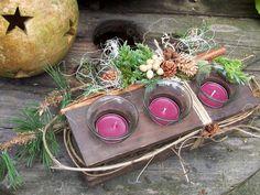 Kränze - Holzleuchter dekoriert - ein Designerstück von zauberzimmer bei DaWanda