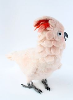 Needle Felted Moluccan Cockatoo Customized For от YvonnesWorkshop
