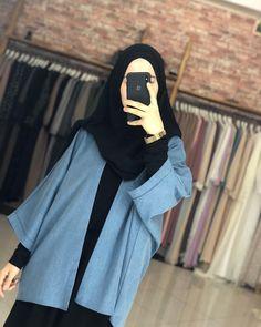 Modern Hijab Fashion, Street Hijab Fashion, Korean Fashion Trends, Muslim Fashion, Fashion Outfits, Casual Hijab Outfit, Hijab Chic, Style Hijab Simple, Mode Abaya