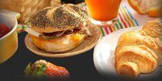 A hearty breakfast with fragrant tea, fruit, croissant and sandwich. Cafe Restaurant, Kiwi, Craft Beer, Hamburger, Sandwiches, Deviantart, Croissant, Chicken, Fruit