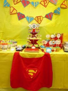 Well, the day finally came - my son's birthday party. I was first inspired by the Superhero Pop Art Birthday party that Anders Ruff posted on their Superman Party, Superman Birthday, Superhero Birthday Party, Art Birthday, Sons Birthday, Boy Birthday Parties, Birthday Ideas, Superhero Cake, Third Birthday