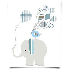 elephant birds balloon blue-01