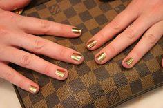 Gold Lightning MINX nails by MISS FOX