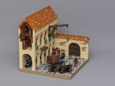 Tiles or Studs: Siege Workshop in Barqa by Jonas Wide Lego Modular, Design Lego, The Hobbit Game, Chateau Lego, Pokemon Lego, Lego Army, Cool Lego, Awesome Lego, Lego Worlds