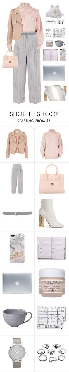 """""""Untitled #1548"""" by timeak ❤ liked on Polyvore featuring River Island, Brunello Cucinelli, Chanel, DOUUOD, Salvatore Ferragamo, Recover, Incase, Sisley, Juliska and Kate Spade"""