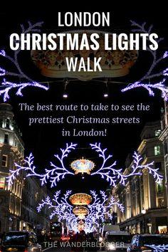 The best London Christmas Lights Walk - London - . - The best London Christmas Lights Walk – London – - London Christmas Lights, Christmas Scenery, Christmas In Europe, Christmas Travel, Holiday Lights, Christmas Markets, Weihnachten In London, London In December, Walks In London