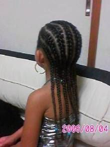 Little girl hairstyle / cornrows / protective hairstyle