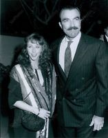 CA207 1988 Handsome Actor Tom Selleck & Wife Jilly Mack Hollywood Press Photo