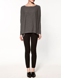SQUARE CUT CASHMERE SWEATER  129.00 USD