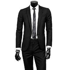 Men's Fashion Washed Slim Suit Sets - MXN $ 997.70