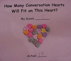 Candy heart estimation.