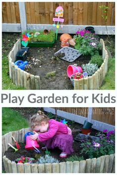 Make a play garden for kids to grow plants, enjoy sensory play and have a digging patch of their very own! Perfect for toddlers and preschoolers.