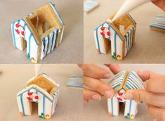 how to make a mini gingerbread beach house #biscuiteers